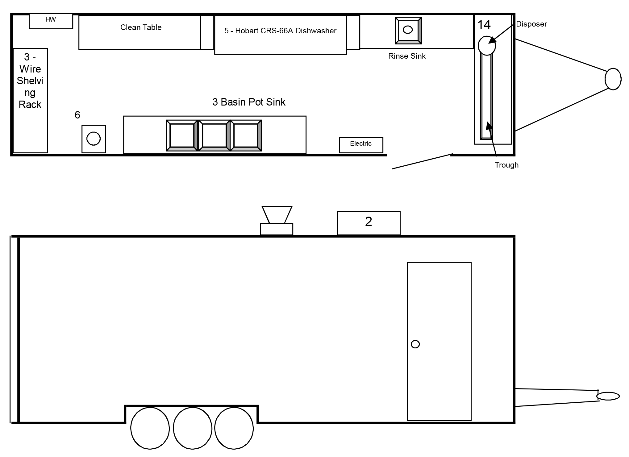 24' Dishwashing Trailer